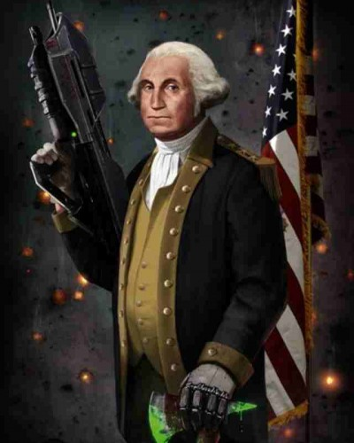 被恶搞的乔治·华盛顿